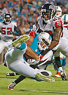 Miami Dolphins wide receiver Rishard Matthews (18) scores in the second quarter during the Miami Dolphins' exhibition game against the Atlanta Falcons at Sun Life Stadium on Saturday, August 29, 2015.