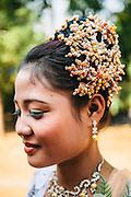 Bride at her wedding near Thaton. Mon State, Myanmar