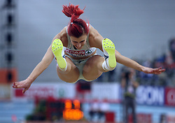 Nina Kolaric of Slovenia placed fourth at the final of Women Long jump at the 2nd day of  European Athletics Indoor Championships Torino 2009 (6th - 8th March), at Oval Lingotto Stadium,  Torino, Italy, on March 6, 2009. (Photo by Vid Ponikvar / Sportida)