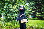 A bear wishes races good luck at the base of the mountain. The small town of Seward transforms into a hive of activity for the few days surrounding the event.