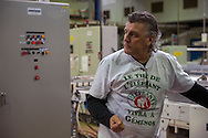 Gemenos, Bocche del Rodano, (Marsiglia), 01/02/2014: Il primo Incontro Europeo &ldquo;L'economia dei lavoratori&rdquo; nella fabbrica della Fralib, azienda occupata dai lavoratori in difesa del<br /> loro posto di lavoro. First European meeting in the occupied Fralib factory. Pictured Olivier Laborquiez.