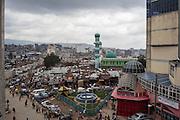 Una vista panoramica del quartiere Mercato, Addis Ababa 16 settembre 2014.  Christian Mantuano / OneShot <br /> <br /> A panoramic view of the market district, Addis Ababa September 16, 2014