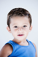 charming and expresiive child portrait studio isolated background