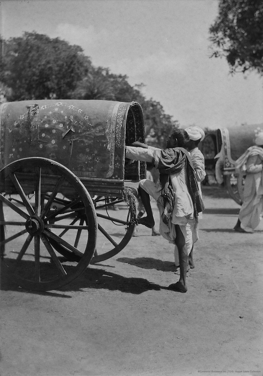 Outside Hospet Railway Station, India, 1929