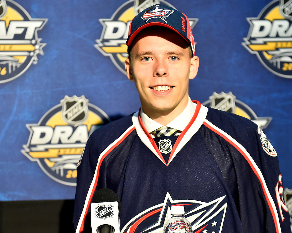 Vitaly Abramov of the Gatineau Olympiques was selected by the Columbus Blue Jackets at the 2016 NHL Draft in Buffalo, NY on Saturday June 25, 2016. Photo by Aaron Bell/CHL Images