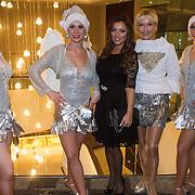 NLD/Rotterdam/20131216 - Society Lunch Silver Bells Christmas, Tatjana Simic en Annette Wijdom en de FaFa dansers