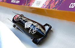 14-02-2014 BOBSLEE: OLYMPIC GAMES: SOTSJI<br /> Training 2 mans bob vrouwen op het Sliding Center Sanki / Great Brittain Engeland met Paula Walker<br /> ©2014-FotoHoogendoorn.nl