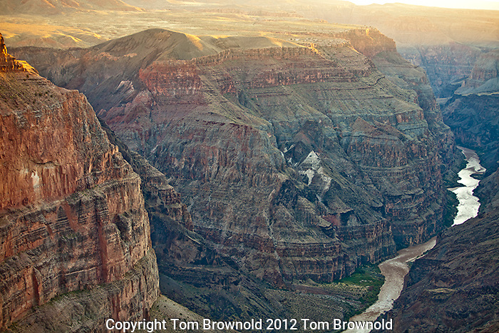 The Colorado River's Lava falls from Torroweap overlook.
