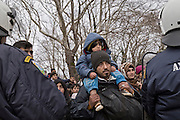 Greece, Idomeni, Refugees on their way to Europe,   March of Hope<br /> <br /> Refugees from Syria, Irak, Afghanistan and others from the near east are trying to reach the border between Greece and Macedonia (FYROM), they had to cross the small river Suva Reka, near the village Hamilo.<br /> While greek riot police is trying to hold back the refugees to cross the river.<br /> <br /> Nadeloehr nach Nordeuropa Idomeni, der Grenzuebergang ist seit Tagen gesperrt,. <br /> Es ensteht im provisorischen Fluechtlingslager in Idomeni eine ngespannte Lage. <br /> Regen und Kaelte machen vor allem den Familien mit kleinen Kindern zu schaffen. <br /> <br /> Idomeni, is the eye of a needle for getting to nothern Europe. <br /> The FYRO macedonian authorities, closed the border from Greece completely. The situation close to the border gets more and more difficult. The People have to sleep outside or in small tents. <br /> Heavy rainfalls and cold nights are treating the refugees badly. Some already stayed up to ten nights at Idomeni. There is not enough food and supplies to help about 14.000 refugees<br /> <br /> <br /> keine Veroeffentlichung unter 50 Euro*** Bitte auf moegliche weitere Vermerke achten***Maximale Online-Nutzungsdauer: 12 Monate !! <br /> <br /> for international use:<br /> Murat Tueremis<br /> C O M M E R Z  B A N K   A G , C o l o g n e ,  G e r m a n y<br /> IBAN: DE 04 370 800 40 033 99 679 00<br /> SWIFT-BIC: COBADEFFXXX
