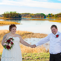 Beautiful lake setting for the bride and groom.
