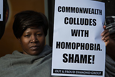 25 Nov 2015 - London protest against Commonwealth homophobic laws.