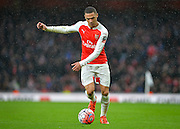 Arsenal Defender Kieran Gibbs during the The FA Cup match between Arsenal and Sunderland at the Emirates Stadium, London, England on 9 January 2016. Photo by Adam Rivers.