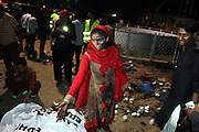 Mar 27, 2016 - Lahore, Pakistan - Pakistani people gather at the blast site in eastern Pakistan's Lahore, March 27, 2016. At least 63 people including women and kids were killed and over 306 others injured when a suicide bomber hit a public park in Lahore on Sunday evening, officials said. (Credit Image: © Exclusivepix Media)