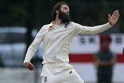 November 2, 2018 - Colombo, Sri Lanka - England cricketer Moeen Ali delivers a ball during the cricket match between England cricket team vs Sri Lanka Board XI , Tour Match on 2, November  2018  (Credit Image: © Tharaka Basnayaka/NurPhoto via ZUMA Press)