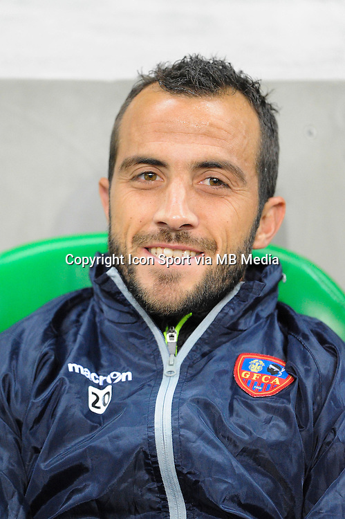 Louis Poggi - 17.10.2015 - Saint Etienne / Gazelec Ajaccio - 10eme journee de Ligue1<br /> Photo : Jean Paul Thomas / Icon Sport