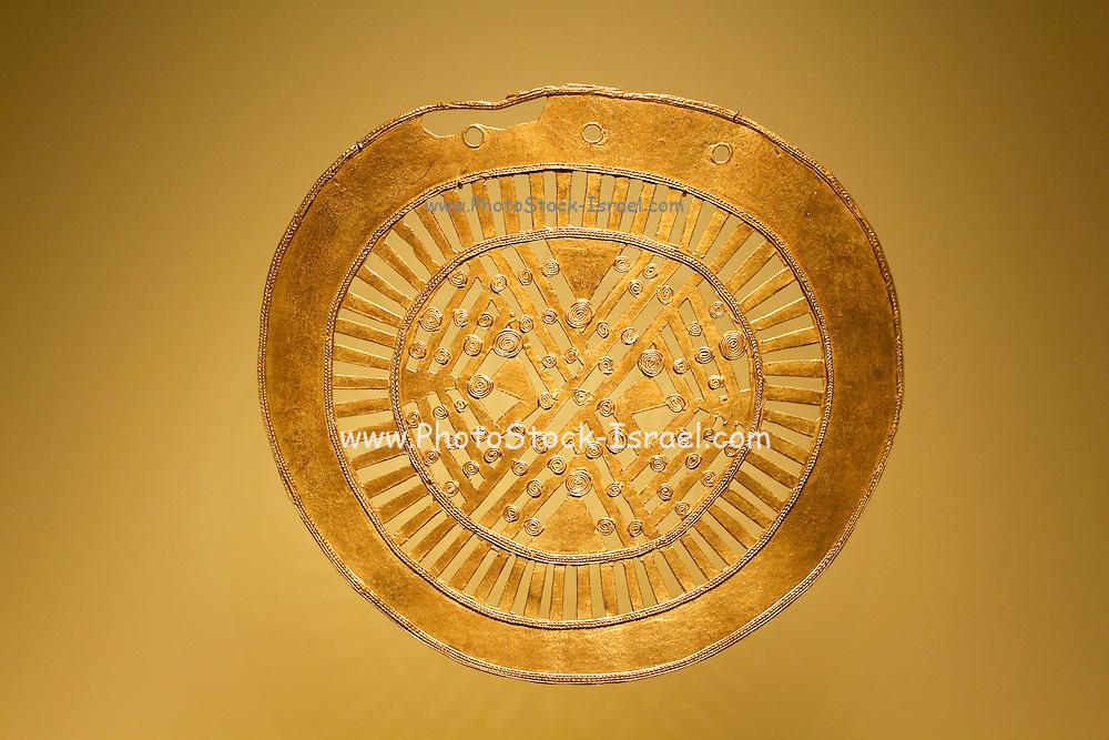 Pre Columbian Golden figure, Museo del Oro Pre-Columbian Gold Museum, Bogota, Colombia, South America