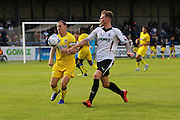 AFC Wimbledon defender Barry Fuller (2) during the Pre-Season Friendly match between Dover Athletic and AFC Wimbledon at Crabble Athletic Ground, Dover, United Kingdom on 12 July 2016. Photo by Stuart Butcher.