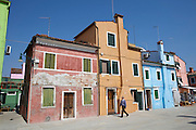 Burano island. Colorful houses.