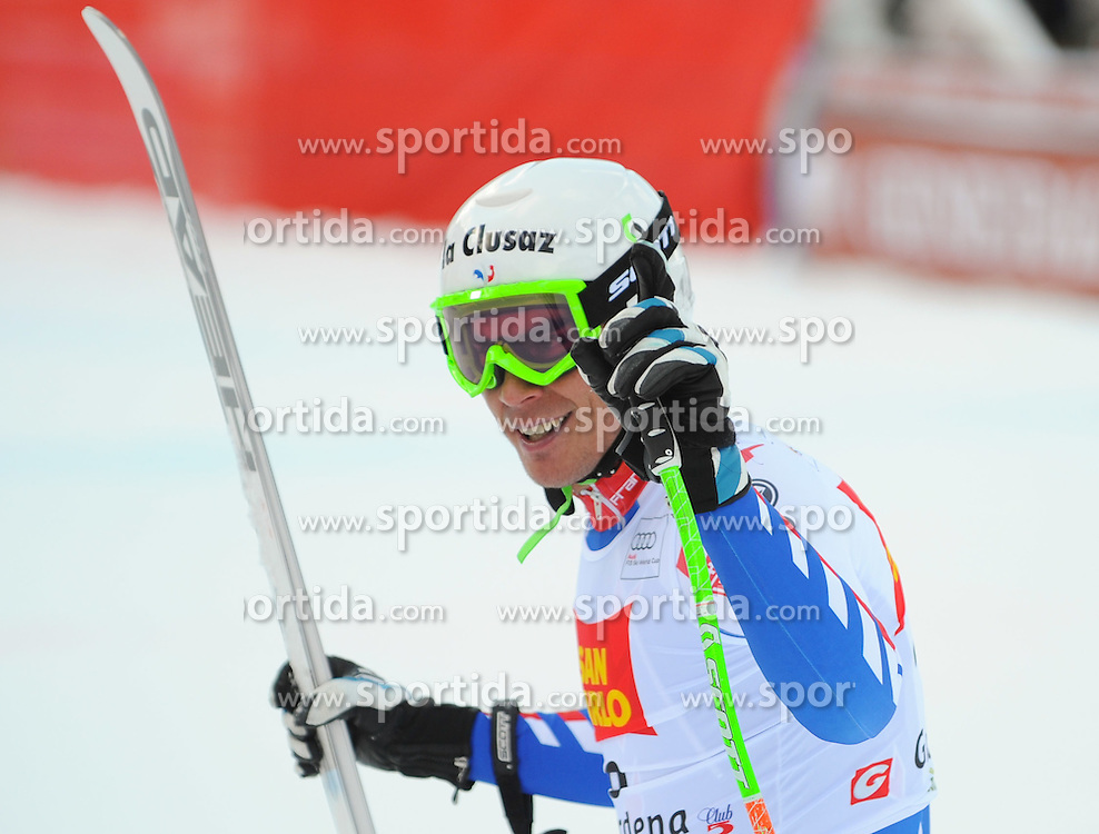 17.12.2011, Saslong, Groeden, ITA, FIS Weltcup Ski Alpin, Herren, Abfahrt, im Bild Johan Clarey (FRA) // Johan Clarey of France after men's downhill at FIS Ski Alpine Worldcup at Saslong in Groeden, Italy on 2011/12/17. EXPA Pictures © 2011, PhotoCredit: EXPA/ Erich Spiess