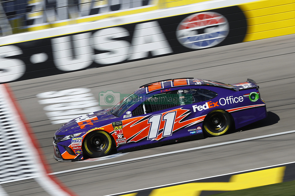 March 2, 2018 - Las Vegas, Nevada, United States of America - March 02, 2018 - Las Vegas, Nevada, USA: Denny Hamlin (11) brings his race car down the front stretch during practice for the Pennzoil 400 at Las Vegas Motor Speedway in Las Vegas, Nevada. (Credit Image: © Chris Owens Asp Inc/ASP via ZUMA Wire)