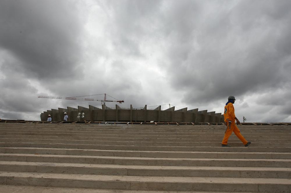 Belo Horizonte_MG, Brasil.<br /> <br /> Reforma do estadio Governador Magalhaes Pinto, Mineirao, em Belo Horizonte, Minas Gerais.<br /> <br /> Works in Governador Magalhaes Pinto stadium, Mineirao, in Belo Horizonte, Minas Gerais.<br /> <br /> Foto: RODRIGO LIMA / NITRO.