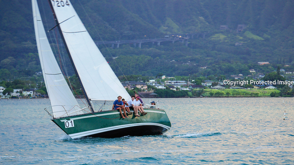 Sailboat race, Kaneohe Bay, Oahu, Hawaii