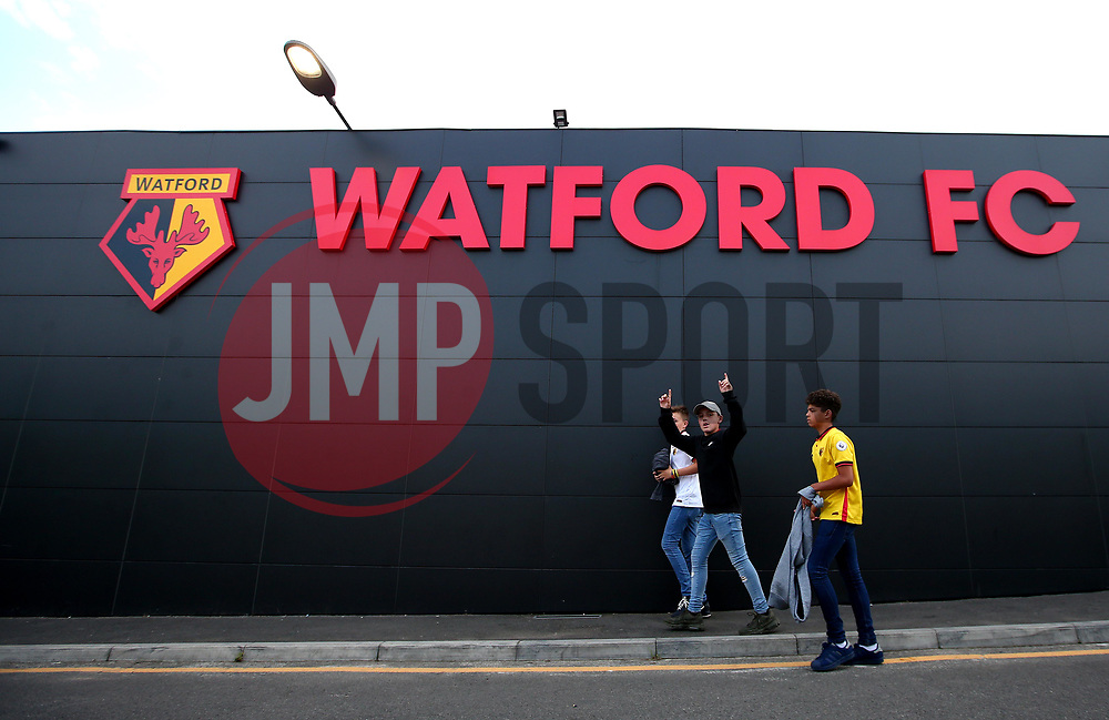 Watford fans arrive at Vicarage Road for their side's Carabao Cup fixture with Bristol City - Mandatory by-line: Robbie Stephenson/JMP - 22/08/2017 - FOOTBALL - Vicarage Road - Watford, England - Watford v Bristol City - Carabao Cup