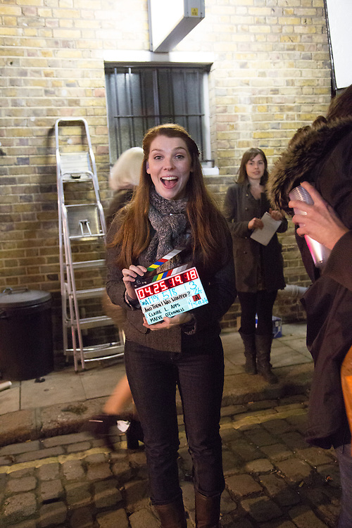 Actress Millie Thomas on set of Claire Leona Apps' directorial debut 'And Then I Was French'.