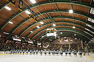 The Hockey East quarter final men's hockey game between the Maine Black Bears and the Vermont Catamounts at Gutterson Field House on Saturday night March 7, 2015 in Burlington, Vermont.
