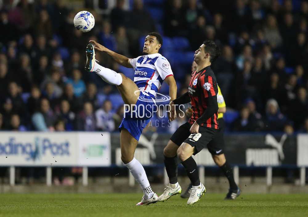 Reading striker Nick Blackman during the Sky Bet Championship match between Reading and Brighton and Hove Albion at the Madejski Stadium, Reading, England on 10 March 2015.