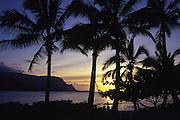 Sunset, Princeville, Hanaleai Bay, Kauai, Hawaii<br />