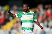 Yeovil Town's Leroy Lita during the Sky Bet League 2 match between Yeovil Town and Carlisle United at Huish Park, Yeovil, England on 25 March 2016. Photo by Graham Hunt.