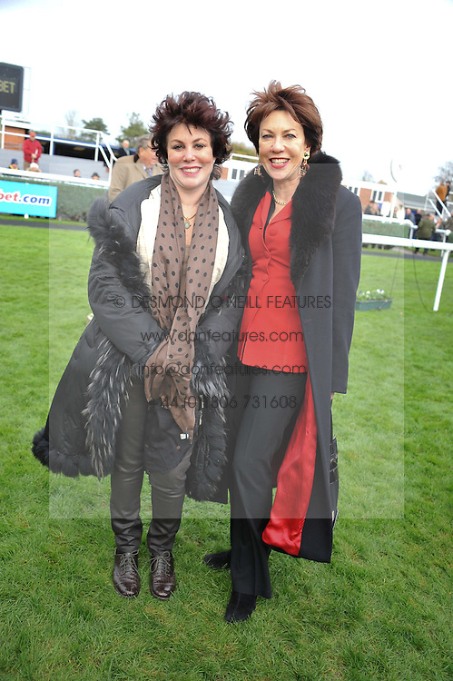 Left to right, RUBY WAX and KATHY LETTE at the Hennessy Gold Cup at Newbury Racecourse, Berkshire on 26th November 2011.