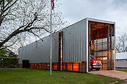The Newbern Volunteer Fire Station, built in 2004, is the first municipal building constructed in the Hale County, Alabama town in over 110 years. // Architects: Rural Studio