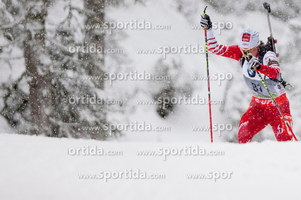 Schwabl Iris of Austria during the Women 7,5km Sprint of the e.on IBU Biathlon World Cup on Thursday, December 14, 2012 in Pokljuka, Slovenia. The third e.on IBU World Cup stage is taking place in Rudno polje - Pokljuka, Slovenia until Sunday December 16, 2012. (photo by Urban Urbanc / Sportida.com)