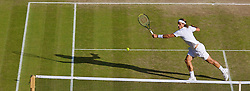 LONDON, ENGLAND - Wednesday, July 2, 2008: Feliciano Lopez (ESP) during his men's singles quarter-final match on day nine of the Wimbledon Lawn Tennis Championships at the All England Lawn Tennis and Croquet Club. (Photo by David Rawcliffe/Propaganda)