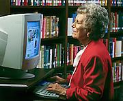 Senior woman shopping online.