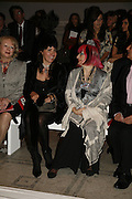 Soujata de Varis and Zandra Rhodes, Party to celebrate the Christian Lacroix Fashion in Motion fashion show and the opening of  	M/M Paris: Antigone Under Hypnosis part of  Paris Calling the UK-wide celebration of contemporary French culture. V. & A. London. 31 October 2006. -DO NOT ARCHIVE-© Copyright Photograph by Dafydd Jones 66 Stockwell Park Rd. London SW9 0DA Tel 020 7733 0108 www.dafjones.com