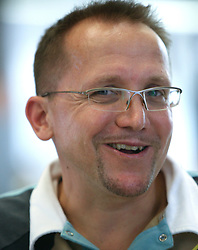 Cycling coach Martin Hvastija  of Slovenian Olympic Team at departure to Beijing 2008 Olympic games, on July 31, 2008, at Airport Jozeta Pucnika, Brnik, Slovenia. (Photo by Vid Ponikvar / Sportal Images)/ Sportida)