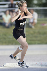 12 July 2007 (Windsor--Canada) -- The 2007 Canadian National Track and Field Championships... Alicia Dobranowski competing in the heptathlon shot put.