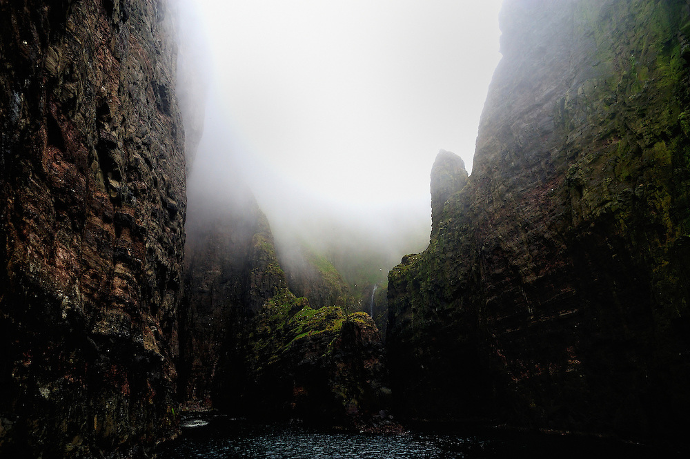 A view of the Vestmannabjørgini reefs in the Faroe Islands. Some of them reach 600 meters high.