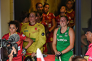 Kathryn Mullan captain of Ireland (9) in the players tunnel during the Vitality Hockey Women's World Cup 2018 Semi-Final match between Ireland and Spain at the Lee Valley Hockey and Tennis Centre, QE Olympic Park, United Kingdom on 4 August 2018. Picture by Martin Cole.