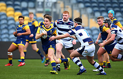 Louis Jackson (KES Stratford) of Worcester Warriors Under 18s runs with the ball - Mandatory by-line: Robbie Stephenson/JMP - 14/01/2018 - RUGBY - Sixways Stadium - Worcester, England - Worcester Warriors Under 18s v Yorkshire Carnegie Under 18s - Premiership Rugby U18 Academy