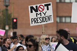 November 12, 2016 - Los Angeles, California, United States - Demonstrators marched through the streets of Los Angeles in protest of President-Elect, Donald Trump. Los Angeles, California November 12, 2016. According to the LAPD an estimated crowd of nine thousand people participated, making this the largest anti-Trump protest to date in the city. (Credit Image: © Ronen Tivony/NurPhoto via ZUMA Press)