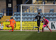 Euan Smith dives to head Kilmarnock's second goal - Dundee v Kilmarnock, SPFL Under 20s Development League at Dens Park<br /> <br />  - &copy; David Young - www.davidyoungphoto.co.uk - email: davidyoungphoto@gmail.com