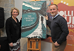 Sinead Wall and Dave Whelan at the launch of his book &lsquo;The Crowded Path&rsquo; at the Rolling Sun Book Festival, the artwork for the book cover was created by Sinead.<br /> Pic Conor McKeown