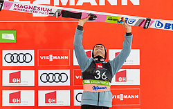 Third placed Piotr Zyla (POL) celebrates at trophy ceremony after the Ski Flying Hill Individual Competition at Day 2 of FIS Ski Jumping World Cup Final 2019, on March 22, 2019 in Planica, Slovenia. Photo by Vid Ponikvar / Sportida