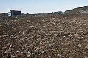 The government said recently that Britain only has enough landfill space left for another eight years. We currently send 18.8 million tonnes of rubbish to landfill every year – 2 million more tonnes than any other country in Europe. By 2013, only 50 per cent of Britain's waste will be allowed to go to landfill. This landfill site is owned by SITA and is one of the largest sites in Europe stretching over 400 acres. Packington, Warwickshire, UK. 2011