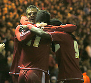 Picture by Paul Gaythorpe/Focus Images Ltd +447771 871632.26/12/2012.Middlesbrough players celebrate Lucas Jutkiewicz scoring the winning goal against Blackburn Rovers during the npower Championship match at the Riverside Stadium, Middlesbrough.