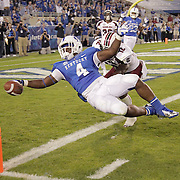 September 29, 2012 - Lexington, Kentucky, USA - UK's Raymond Sanders dives into the end zone for a first half touchdown as the University of Kentucky plays South Carolina at Commonwealth Stadium. South Carolina won the game 38-17. (Credit Image: © David Stephenson/ZUMA Press).